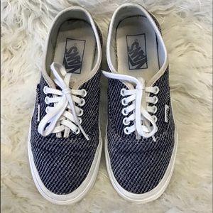 Vans Blue & White Canvas Shoes